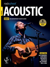 Rockschool Acoustic Guitar - Debut (2019+) (Book/Online Audio)