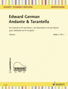German: Andante & Tarantella for Clarinet published by Schott