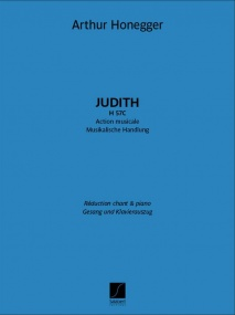 Honegger: Judith H 57C published by Salabert - Vocal Score