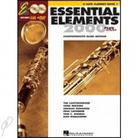 Essential Elements 2000 Book 1 for Eb Alto Clarinet published by Hal Leonard (Book/CD & DVD)