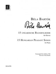 Bartok: 15 Hungarian Peasant Songs for Piano published by Universal