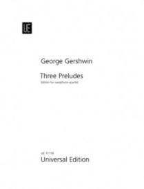 3 Preludes for Saxophone Quartet by Gershwin published by Universal