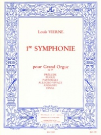 Symphony No 1 Opus 14 for Organ by Vierne published by Hamelle