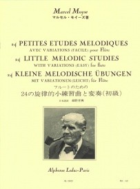 24 Little Melodic Studies by Moyse for Flute published by Leduc