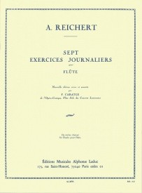 7 Exercices Journaliers Opus 5 by Reichert for Flute published by Leduc