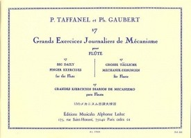 17 Grands Exercices Journaliers by Taffanel for Flute published by Leduc