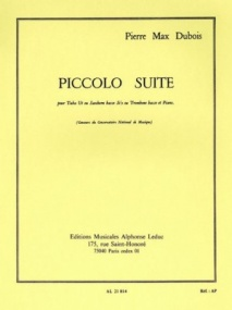 Dubois: Piccolo Suite Tuba or Bass Trombone published by Leduc