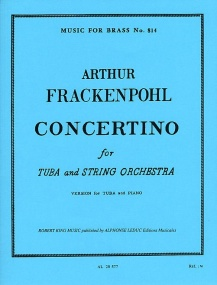 Frackenpohl: Concertino for Tuba published by Leduc