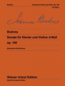 Brahms: Sonata in D Opus 108 for Violin published by Wiener Urtext