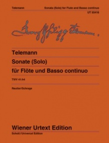 Telemann: Sonate (Solo) TWV 41:H4 for Flute published by Wiener Urtext