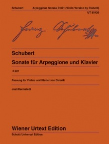 Schubert: Arpeggione Sonata D821 for Violin published by Wiener Urtext