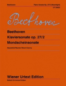 Beethoven: Sonata in C# Minor Opus 27 No 2 (Moonlight) for Piano published by Wiener Urtext