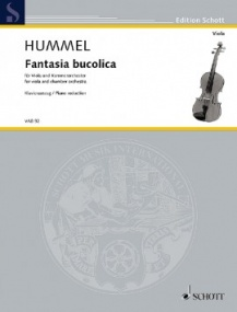 Hummel: Fantasia bucolica for Viola published by Schott