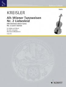 Kreisler: Old Viennese dance tunes for Violin published by Schott