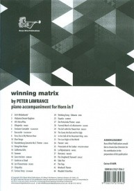 Winning Matrix Piano Accompaniment for Horn in F published by Brasswind